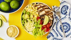 BBQ Chicken Burrito Bowls with Chipotle Mayonnaise Dressing  - Recipe