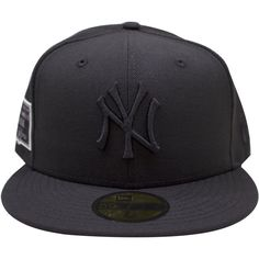 1932 New York Yankees Monument Park Black on Black 5950 Fitted Cap. Shania  Bell · bucket hats and fitteds 4f239b3dc426