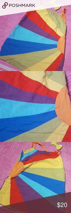 Selling this Vintage rainbow Baby Gap sundress 18 24 HTF on Poshmark! My username is: retrohanson. #shopmycloset #poshmark #fashion #shopping #style #forsale #GAP #Other