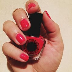 """Hello Holiday nails.  Perfect Formula Nail Polish in Dozen Roses is a nail strengthening polish. It is formulated with """"Instant Strength Technology,"""" infusing your nails with instant strength and thickness. The perfectly-pigmented polish ensures a smooth, even application for the perfect manicure every time. And, the Perfect Formula nail strengthener polishes are free of toluene, formaldehyde, and dibutyl phthalate."""