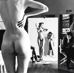 """""""To have taboos, then to get around them – that's interesting"""" – Helmut Newton. Please note the woman watching - June Newton, a.k.a. photographer Alice Springs (an Australian, she named herself after the city there!)."""
