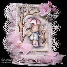Gina's Cards: New Challenge Lovely Hanglar or Sweet Magnolia