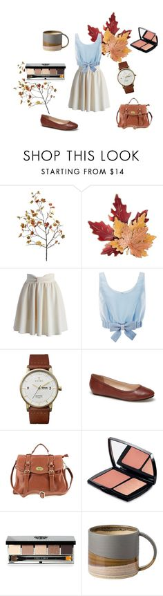 """""""FALL!!!!!!!!"""" by lotsolove-1 on Polyvore featuring Croft & Barrow, Chicwish, Honor, Triwa, Lacoste, Lancôme and Bobbi Brown Cosmetics"""