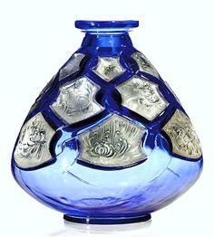 """René Lalique (1860-1945), Glass Vase, """"Chrysanthemes Chinois et Entrelacs"""", 1912."""
