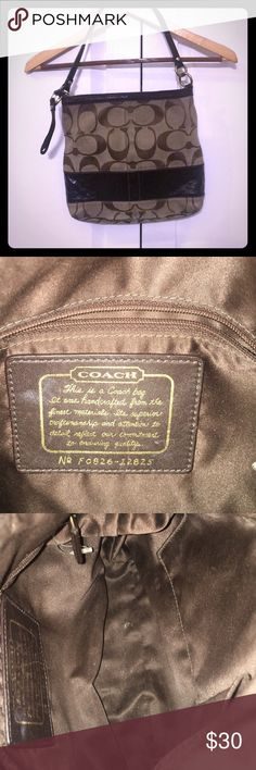 COACH purse Coach purse in great condition overall. Please look at pictures. The outside may need a little cleaning. Straps are in good condition as well as the inside of the purse. Color- Brown  Authentic Coach Other