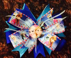 Disney's Frozen Hair Bow...Frozen Hair by EmziesCornerCuties, $6.00