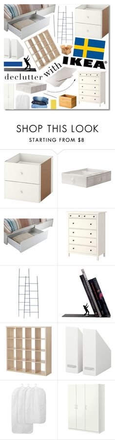 """""""Declutter with IKEA"""" by jleigh329 ❤ liked on Polyvore featuring interior, interiors, interior design, home, home decor, interior decorating, Hawkins and bedroom"""