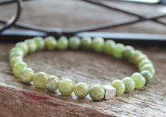 Peridot Gemstone Bracelet  Green Wedding by 2sistershandcrafted, $42.00