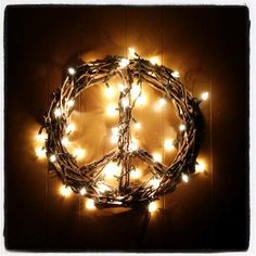 Hello my beautiful, creative friends!  Ready to spread a little peace today?          This DIY peace sign wreath is: easy to create require...