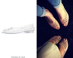 Dianna Agron tweets about her sandals, Los Angeles, July 21, 2014 Thanks tess-chandlers! American Apparel Flat Lattice Jelly Sandal - $24.00...