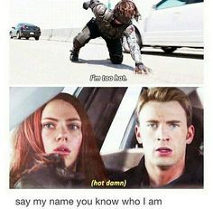 Bucky: seriously, can anyone tell me what my name is? Bucky: Who the hell is Bucky? Steve: *A single man tear rolls down his cheek* You the hell is Bucky. Funny Marvel Memes, Marvel Jokes, Dc Memes, Marvel Heroes, Marvel Dc, Marvel Comics, Sebastian Stan, Marvel Universe, Loki