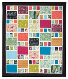 Sewing Block Quilts This fun fat quarter Craftsman quilt will be together in no time Big Block Quilts, Scrappy Quilts, Easy Quilts, Quilt Blocks, Quilts For Kids, 16 Patch Quilt, Strip Quilts, Mini Quilts, Beginner Quilt Patterns