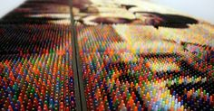 "Artist Uses Thousands Of Crayons As Pixels To Create Giant ""Photos"""