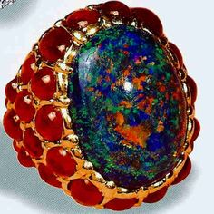 CollectingFineJewels: The Opal series: VERDURA's opal ring