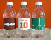 Football Printable - Football drink wrappers - Football Birthday - printable party - Sports Birthday - tailgate - Football Watch Party