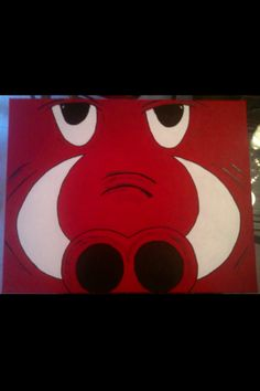 DIY Razorback canvas