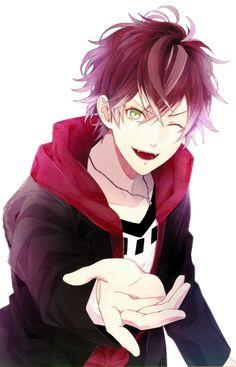 Diabolik Lovers Funny, Yuma Diabolik Lovers, Hot Anime Boy, Cute Anime Guys, Anime Love, Otaku Anime, Manga Anime, Manga Girl, Anime Art