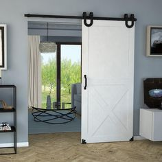 TEMIDA SET Μηχανισμού βαρέως τύπου για συρόμενες  ξύλινες πόρτες έως 100 κλ από χάλυβα σε βιομηχανικό στυλ loft-vintage πόρτα του αχυρώνα εος 950 χλ. από Vialex Hellas Sliding Door Mechanism, Sliding Doors, Barn Doors, Style Loft, Types Of Doors, Steel Doors, Wooden Doors, Industrial Style, Tall Cabinet Storage