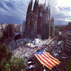 Diada de Catalunya #sagradafamilia #catalonia #freedom #experience #barcelona