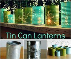 Use Tin Cans to Make Lanterns