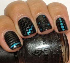 Day 310: Geometric Nail Art - NAILS Magazine