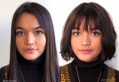 Bangs for Round Face Shapes . hair for round face 21 Most Flattering Bangs for Round Faces Wispy Bangs Round Face, Hair For Round Face Shape, Short Hair Cuts For Round Faces, Round Face Haircuts, Hairstyles For Round Faces, Fringes For Round Faces, Short Bob Round Face, Bobs For Round Faces, Wispy Bangs