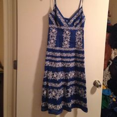 Anthropologie Beth bowley embroidered sun dress 4 Very pretty! Zips up the side Anthropologie Dresses