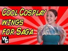 Danni Danger makes some awesome Cosplay Wings for Alana from Saga http://www.weird-girls.com
