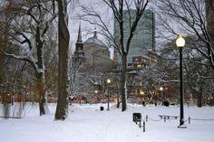 Snowy Winter At Boston, Massachusetts, USA Royalty Free Stock Photo ...