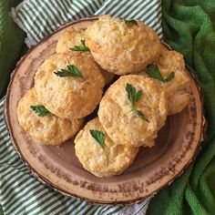 In honor of world #bakingday I had to make Cheddar Parsley Biscuits. by annafgass