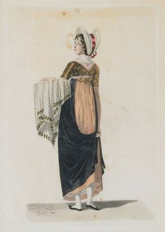 A working lady wearing an apron. Costumes de Hambourg - Georges Jacques Gatine - Auction House Stahl