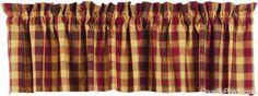India Home Fashions Nutmeg Curtain Valances