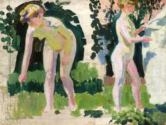 Two Studies of a Nude Outdoors by Maurice Denis, c. 1907