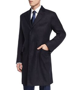 Special+Edition+Herringbone+Cashmere+Top+Coat,+Navy+by+TOM+FORD+at+Neiman+Marcus.