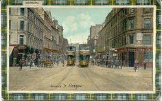 """ Jamaica Street Trolley, Glasgow, Scotland "" Karodens Vintage Post Cards."