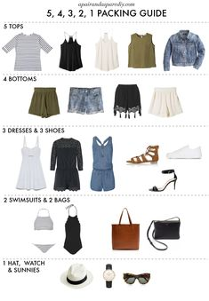 Capsule Outfits, Fashion Capsule, Vacation Outfits, Capsule Wardrobe, Outfits Tipps, Diy Kleidung Upcycling, Pinterest Mode, Thailand Outfit, Cool Outfits
