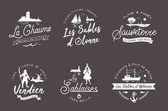 Badges vintage sur les Sables d'Olonne. Badges, Vintage, Home Decor, Decoration Home, Room Decor, Badge, Vintage Comics, Home Interior Design, Home Decoration