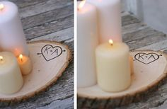 So cute and unique!! Sweet gift idea too.  Personalized Wood Tree Slice on #groopdealz