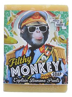 "Filthy Farmgirl Filthy Monkey BAR SOAP ""Captain Banana Pants"""