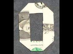 Fold Origami Dollar Bill Alphabet Letter O - YouTube