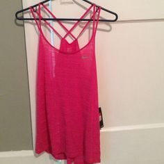 Nike Dri-Fit Cool Breeze Ladies Running Top Nike dry fit tank. Brand new never worn. Got this at Nordstrom. Never got around to wearing it ! Cute back ! Don't want to sell this but I'm moving and need to make room in my closet ! Nike Tops Tank Tops