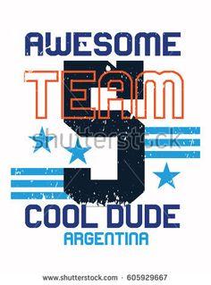 argentina cool dude,t-shirt print poster vector illustration