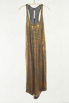 Gold Tank Dress by Raquel Allegra $266 |shopheist.com