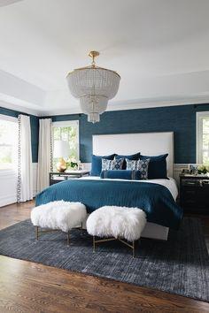57 Best Navy Blue Bedrooms images in 2019   Navy blue ...