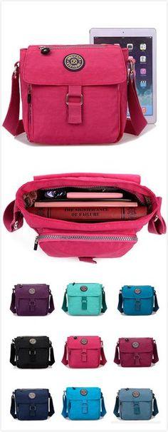 [$ 13.80]  Women Waterproof Nylon Casual Crossbody Bag Elegant Leisure Womens Shoulder Bags