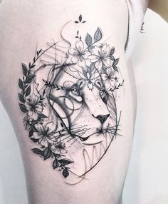 (notitle) - Tattoo-Ideen - Tattoo Designs For Women Girly Tattoos, Mini Tattoos, Flower Tattoos, Body Art Tattoos, Tatoos, Tattoo Designs For Women, Tattoos For Women, Tattoos For Guys, Small Lion Tattoo For Women