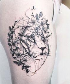 (notitle) - Tattoo-Ideen - Tattoo Designs For Women Girly Tattoos, Mini Tattoos, Flower Tattoos, Body Art Tattoos, Sleeve Tattoos, Tatoos, Leo Lion Tattoos, Animal Tattoos, Tattoo Designs For Women