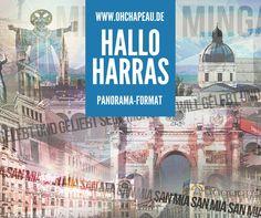 """Mit """"HALLO HARRAS Panorama"""" kommt der 3. Teil meinen München-Collage Reihe zu Euch. Dieses Mal wurde das Motiv verändert und auf ein Panorama-Format gebracht. Dieses Format passt auch in großer Breite von der Höhe her noch über jede Couch - egal, wie hoch die Zimmer- bzw- Bürodeckenhöhe ist. Und wie schon bei den beiden """"Vorgängern"""" dreht sich wieder alles um die Sehenswürdigkeiten der """"schönsten Stadt der Welt""""."""