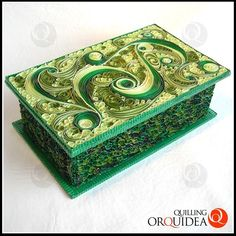 Quilled Jewelry Box - by: Qui Orquidea