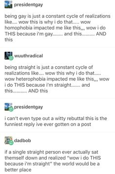 I like the straight/gay friendship in this post so here